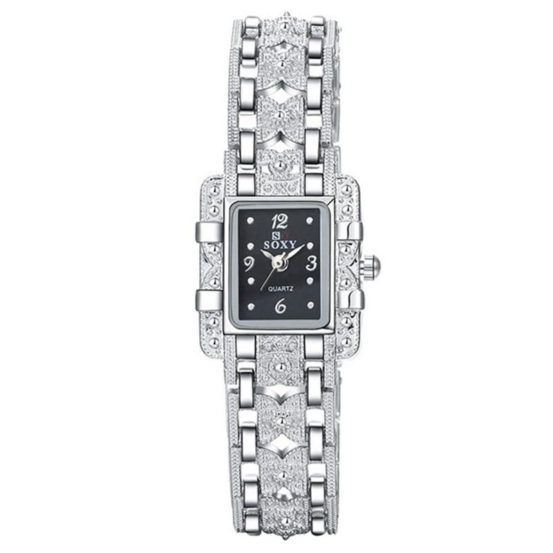 Mode Klocka Kvinnor Silver Klocka Kvinnor Armband Armbandsur - Damklockor - Foto 3