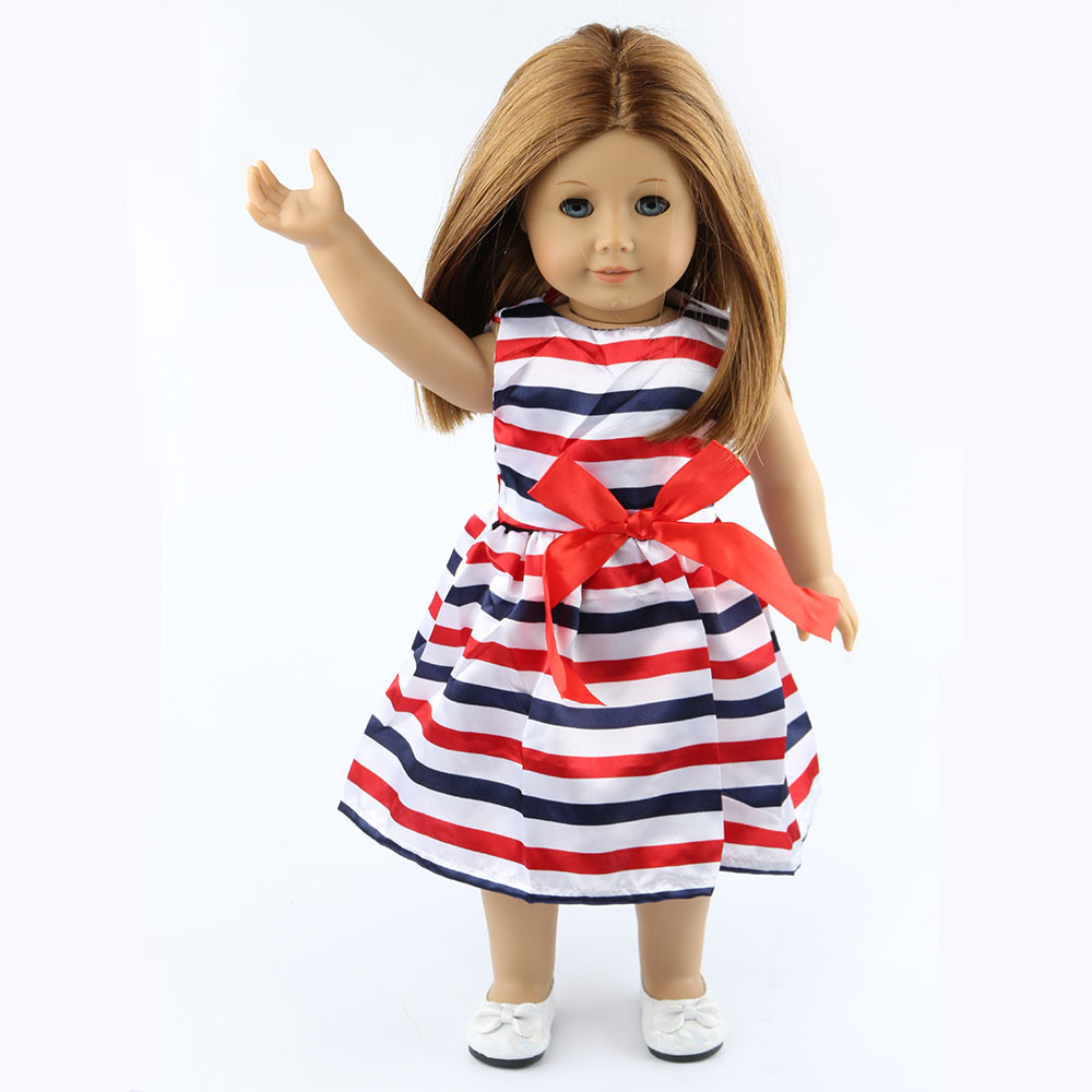 18 inch American girl dolls clothes manually white wedding dresses children Christmas gift free shipping W18