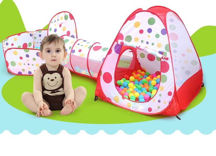 3 en 1 niños Piscina-tubo-tiepee niños jugar tienda de juguete portátil al aire libre túnel tienda para niños bebé regalo sin pelotas