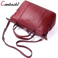 Contact S Brand Luxury Handbags Women Bags Designer Female Shoulder Bag Genuine Leather Crossbody Bags For