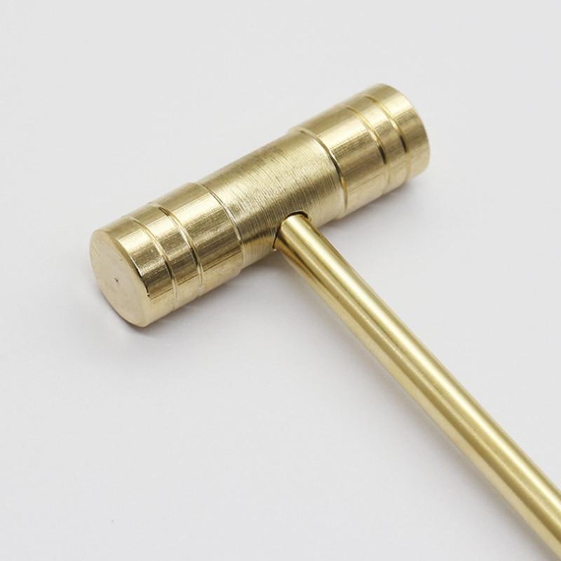 Mini Hammer Small Round Hammer Solid Brass Hammer For Precision Installation Tool