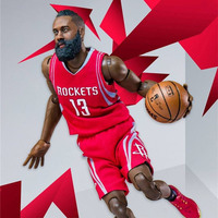 1:9 scale American Houston Rockets basketball super star Action figures away game No.13 James Harden 22cm model doll toys