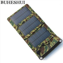 BUHESHUI 5W Foldable Mono Solar Panel Charger Solar Charger Mobile Power Battery Charger For Cell Phone USB Output Free Shipping