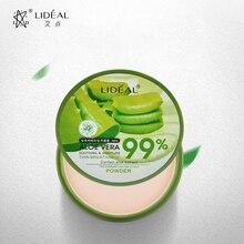 Natural Aloe Vera Moisturizing Smooth Foundation Pressed Powder Makeup Whitening