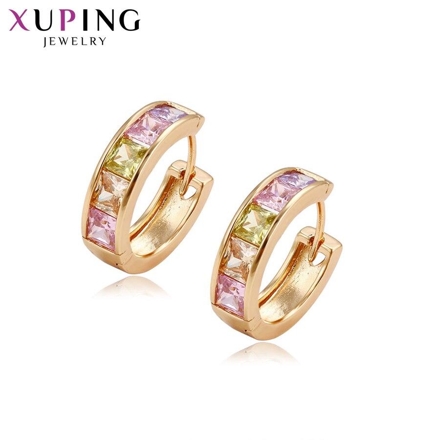 Xuping bijoux mode élégantes boucles d'oreilles avec synthèse zircone cubique pour les femmes saint valentin bijoux cadeau Y15-20350