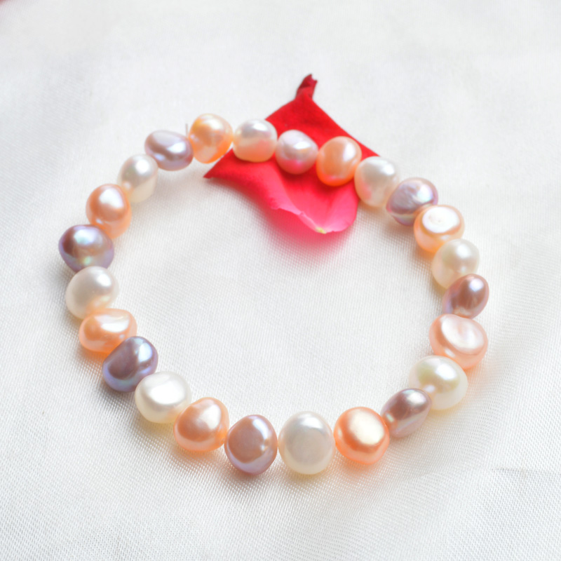 ASHIQI Real Natural Freshwater Pearl Charm Bracelets & Bangles for - Fine Jewelry