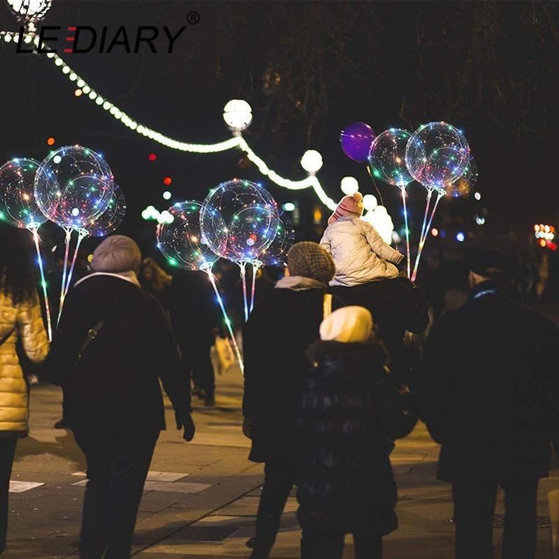 LEDIARY Handheld Led Balloon Night Light Transparent Luminous Bobo Balloons Wedding Birthday Party Decor Kids LED Light Balloon in LED Night Lights from Lights Lighting