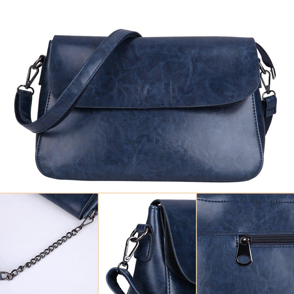 Women Girl Real Leather Coin Purse Cell Phone Pouch Wallet Shoulder Bag Messenger Crossbody Clutch Bag Handbag