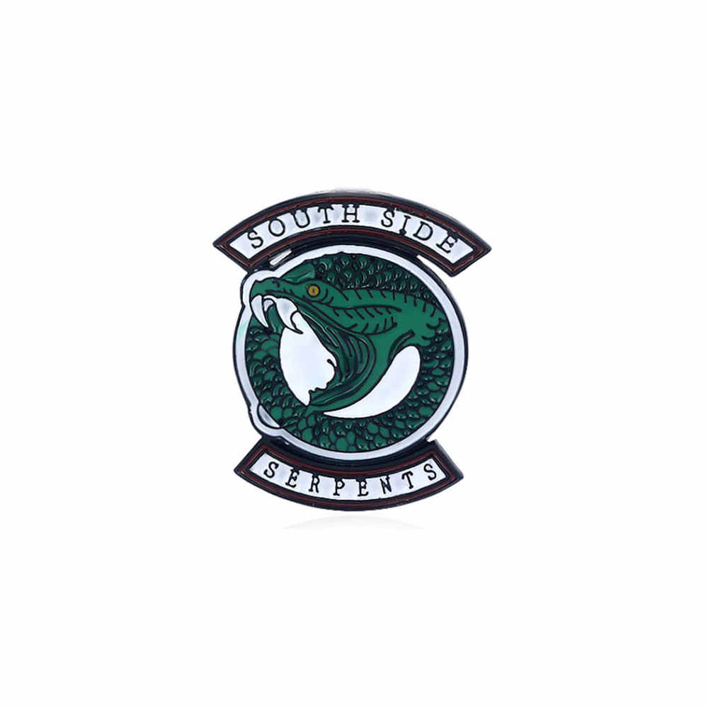 Riverdale Pins Brooches Letter South Side Serpents Enamel Badge Brooch for Women Men Coat lapel pin Jewelry Christmas Gift