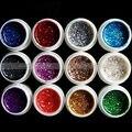 Bling Mix 12 Brillo de Los Colores de Esmalte de Uñas de Gel UV Gel Constructor Base del Arte del clavo Falso Consejos Decoración de DIY Alta Calidad Vernis A Ongle