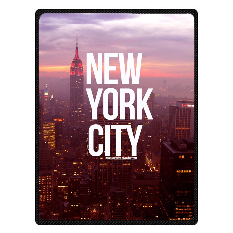 New York City Print Super Soft Manta Coral Flannel Blanket Bed Plane Travel Throw Blankets Baby Kids Bed Sheet