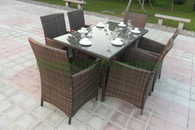 Muebles de comedor Patio conjunto de China diseños, juego de comedor al aire libre