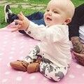 2016 Marca Primavera Do Bebê Calças Do Bebê PP Calças de Algodão Urso Dos Desenhos Animados Impressão de Cintura Elástica