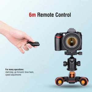 Image 3 - YELANGU L4X מיני ממונע חשמלי מסלול מחוון מנוע דולי משאית רכב w שלט רחוק למצלמה למצלמות DV עבור Canon מצלמה