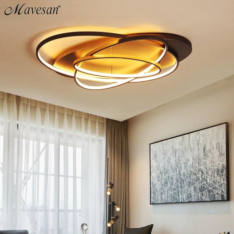 Новое светодио дный поступление современная светодиодная потолочная люстра кофе и белый светодио дный цвет Светодиодная Люстра для гостин...