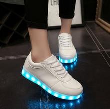 Plus Size 35-46 Led Light Shoes Men Women Flats Zapatos Led Shoes For Adults Lumineuse Shoe Hip-hop Skateboarding Shoes Sneakers
