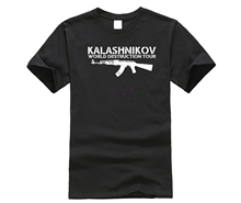 Men 2019 100% cotton Free shipping Hot sale Brand Clothing Tees Casual Male Ak 47 T Shirt S-Xxxl Weapons Military Tee Shirt hot sale brand 100