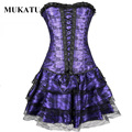 Sexy Women Corsets Dress Strapless Steampunk Corselet Gothic Corsets and Bustiers Hot Shapers Body Shaper Corset Lingerie MUKATU