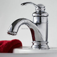 Chrome Faucets Bathroom Sink Basin Mixer Tap Single Handle Torneira Hot and Cold Taps 1128C