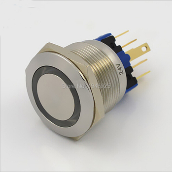 20 pieces 22mm 1NO 1NC Momentary pushbutton switch made of stainless steel ( Dia. 22mm )