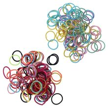 200 Pcs/pack Children Thumb Hair-ring Small Tie Hair Rubber Band Baby Kids Rope Color Braided Ropes New