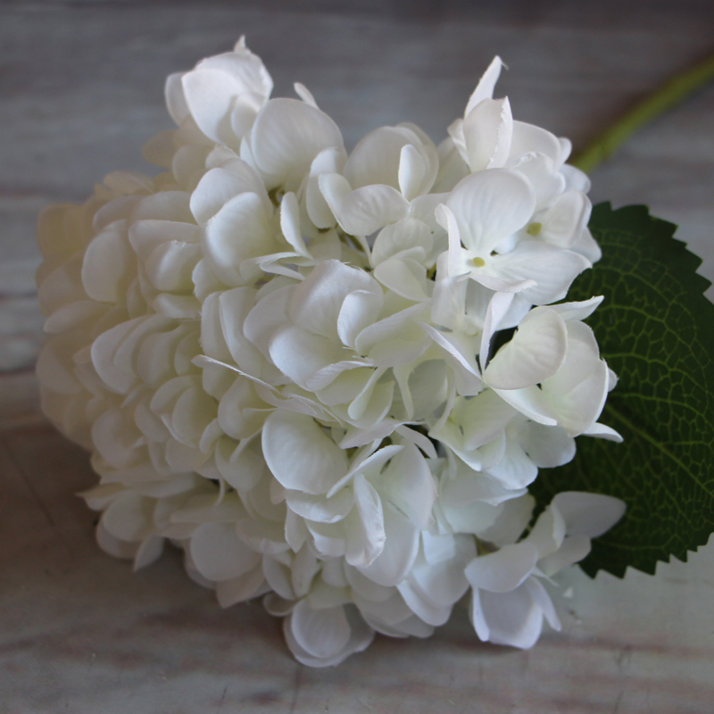 ... 2 Pcs/lot 1 Bouquet Pure White French Hydrangea Artificial Silk Flower  Arrangement Room Home ...