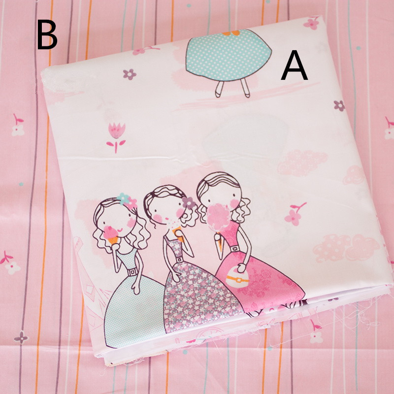 160cm 50cm pink girl sisters cotton fabric baby cloth kits for Cotton fabric for children s clothes