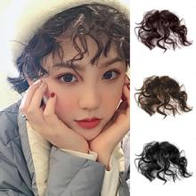 Natural Fluffy Curly Fake Fringe Bang Girls Clip-in Hair  Extension Hairpiece