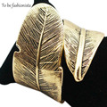 Jewelry Bracelet Antique Gold Plated Vintage Feather Cuff Bangle Gold Indian Vintage Bracelet Bangles Sets for Women