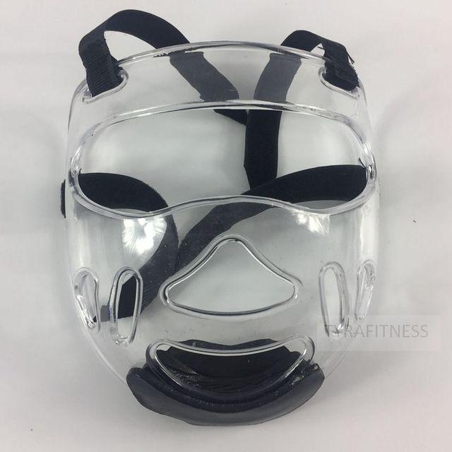 afdfd71645783 Removível Máscara Capacete Karate Taekwondo Kicking Boxing Protetor Facial  Claro Gaiola Máscara Engrenagem Sparring proteção para