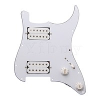 3PLY White Loaded Pickguard HH For Strat Humbuckers Guitar