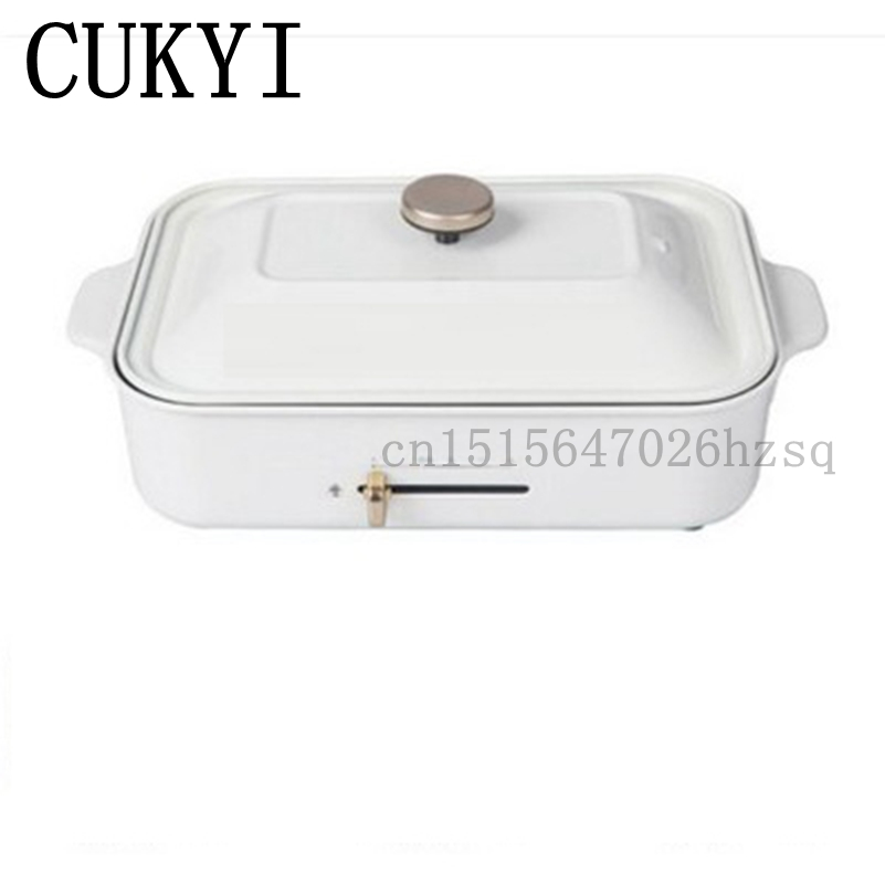 CUKYI household Electric Grills & Electric Griddles BBQ 2 Hotplates Smokeless Grilled Meat Pans cukyi multi function household electric grills