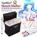 Touchfive marcador/30/40/60/80/168 colores arte plumones conjunto de marcadores a base de Alcohol dibujo cepillo marcador pluma para artista dibujo Manga de animación Entrega rápida Livraison rapide