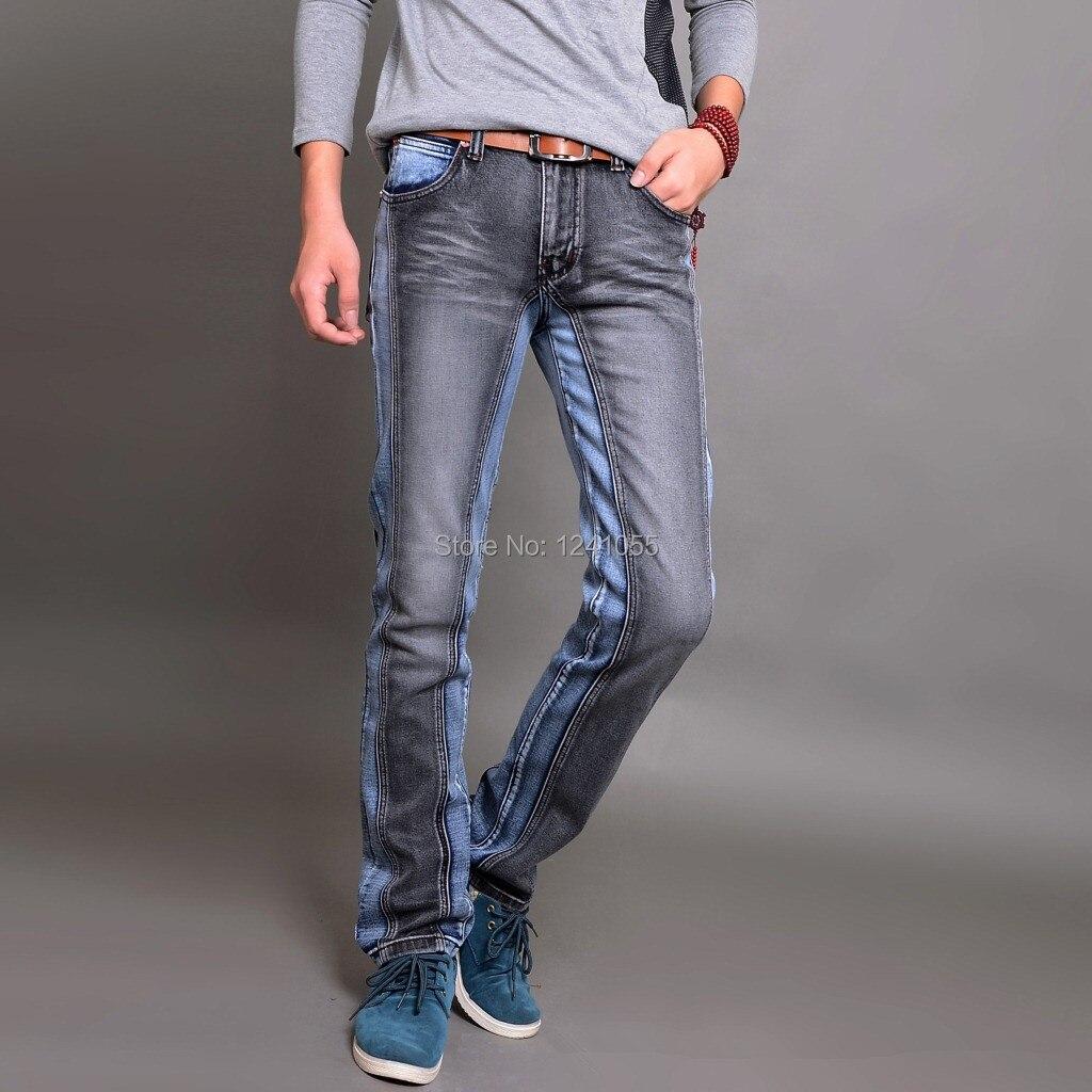 new 2014 fashion skinny mens jeans colors Slim Straight