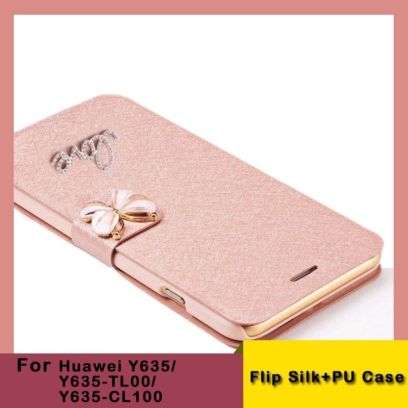Para huawei y635 moda flip funda de cuero pu para huawei Y635 Teléfono Plegable