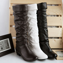Plus size 43 fashion new arrival Winter Mid-Calf Women Boots Black White Brown flats heels half boots autumn Snow shoes