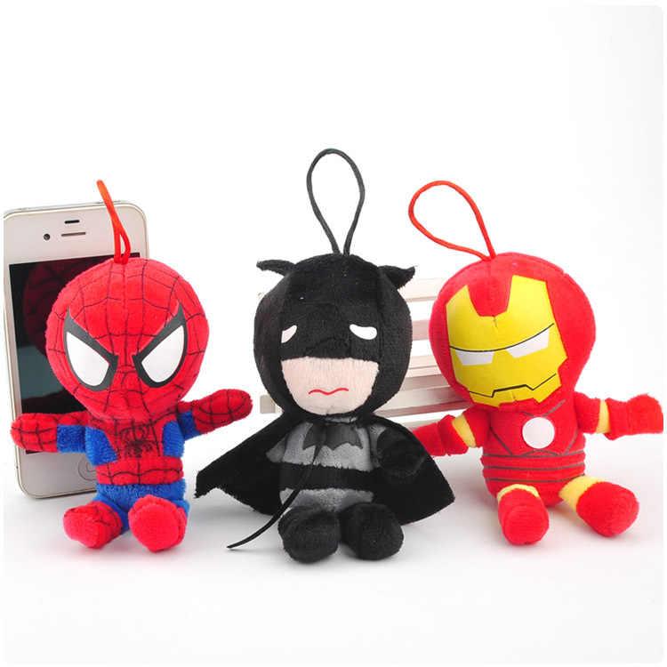 Человек-паук герой Железный человек серийный подвеска с мягкой игрушкой рынка раскладушка кукла плюшевый брелок 4 вида (12 см); wj04