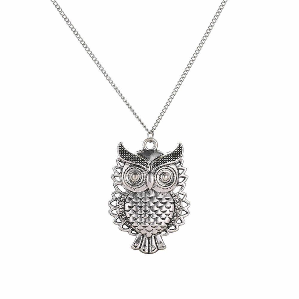 แฟชั่นผู้หญิงสร้อยคอคริสตัล Choker Bronze Owl จี้สร้อยคอสร้อยคอยาวเครื่องประดับสไตล์สร้อยคอแรงบิด Aneis
