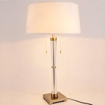 TUDA 44X77 cm darmowa wysyłka kreatywny moda lampy stołowe LED do salonu sypialnia K9 kryształowe lampy stołowe nowoczesne dekoracje do domu E27