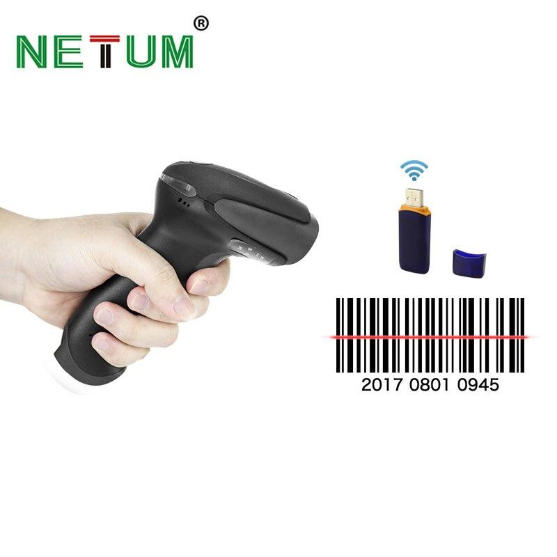 NT-2028 Беспроводной сканера штриховых кодов лазерный штрих-кодов с USB приемник для pos и инвентаризации netum