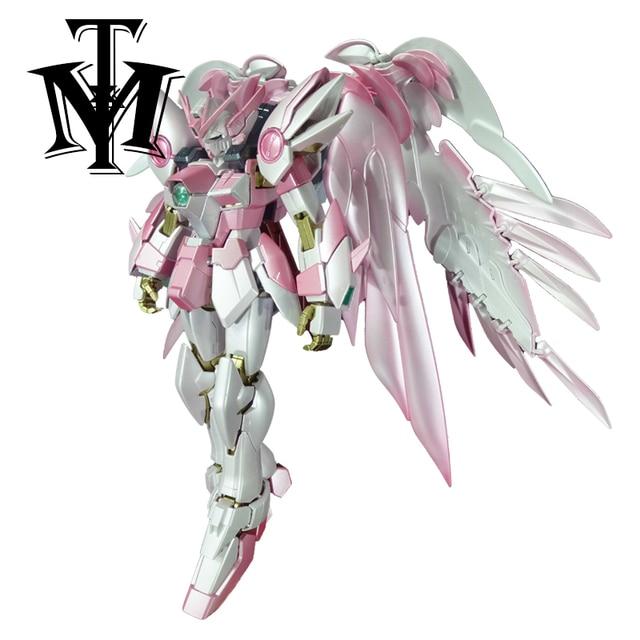 Anime Japan Mobile Suit MG 1/100 pink Wing Gundam Zero Endless Waltz Fighter Assembled Robot Orignal Box Action Figure kids toy 1