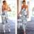 Marcas Europa Sexy Impressão Ocasional Longo Macacão Sólidos Strapless Uma peça Romper Playsuits Macacão Profunda V Roupas Stomacher