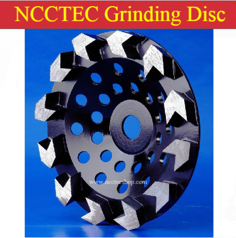 6'' 7'' Diamond Arrow tooth wheel floor grinding cup Wheels | 150mm 180mm Concrete surface grind discs | silver welding 4 inch 6 inch straight cup diamond grinding wheel for glass edger straight line double edging beveling machine m009