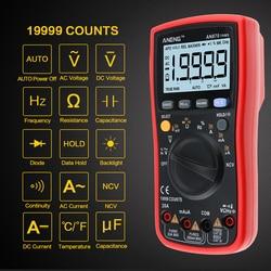 ANENG AN870 19999 отсчетов Авто Диапазон Цифровой точность мультиметр True-RMS НТС Омметр AC/DC Напряжение Амперметр транзисторы тестер