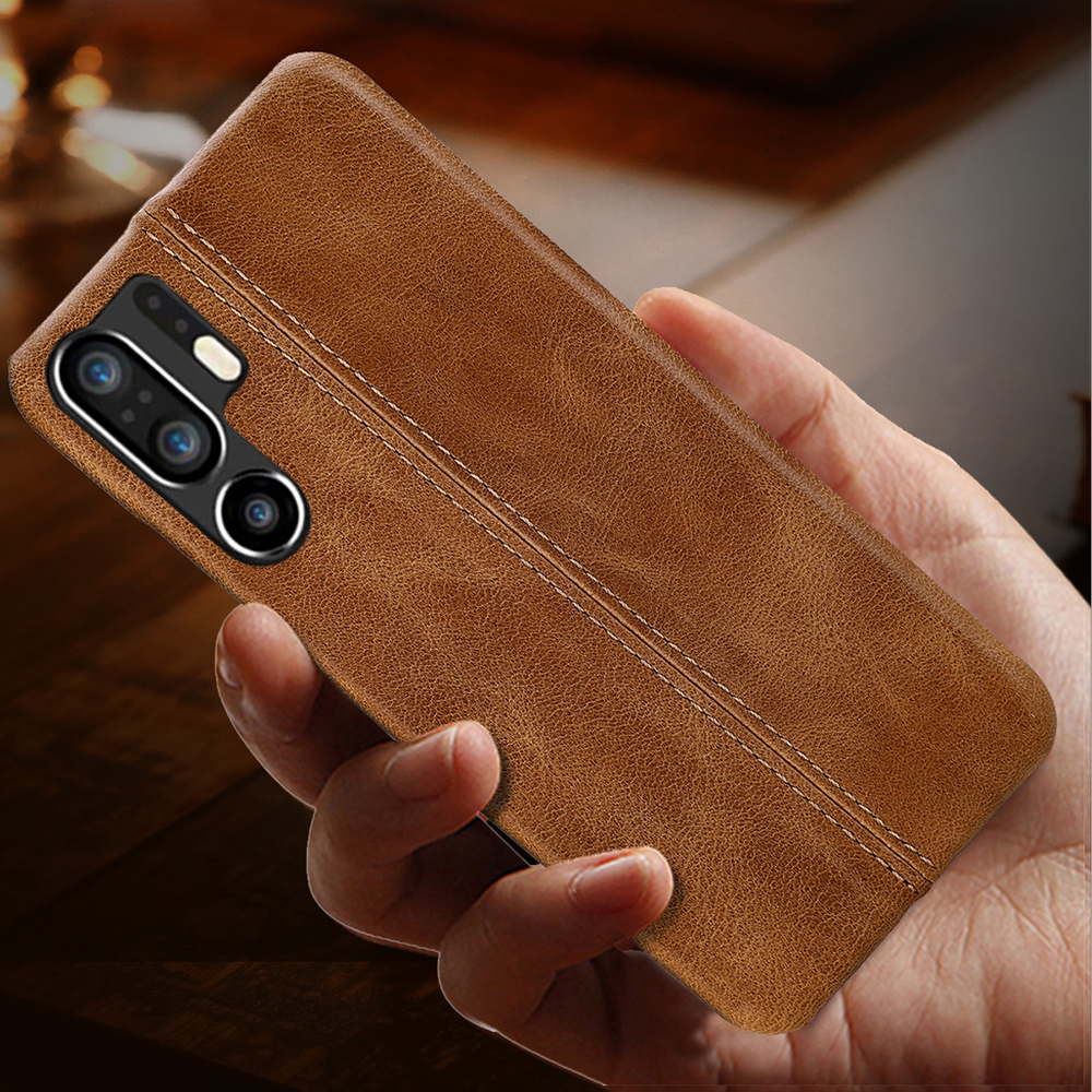 Genuine Leather Case For Huawei P30 Pro Ultra Slim Full Body Non Slip Grip Scratch Resistant Cover Cases for P20 Pro P10 Plus-in Fitted Cases from Cellphones & Telecommunications