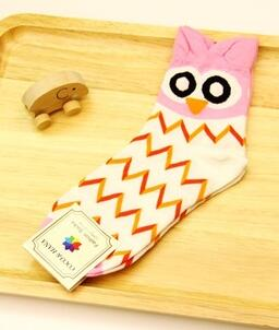 1pair/lot free shipping korean style Cute Women Owl Sock Casual Cotton Socks cartoon winter autumn socks lovely socks