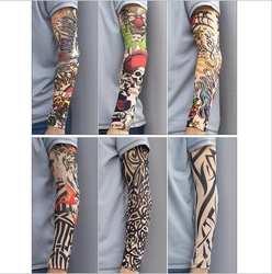 2019 Новая модная Татуировка теплый рукав Мужская УФ-защита Открытый Временная подделка рукав с татуировками Теплее рукава Mangas