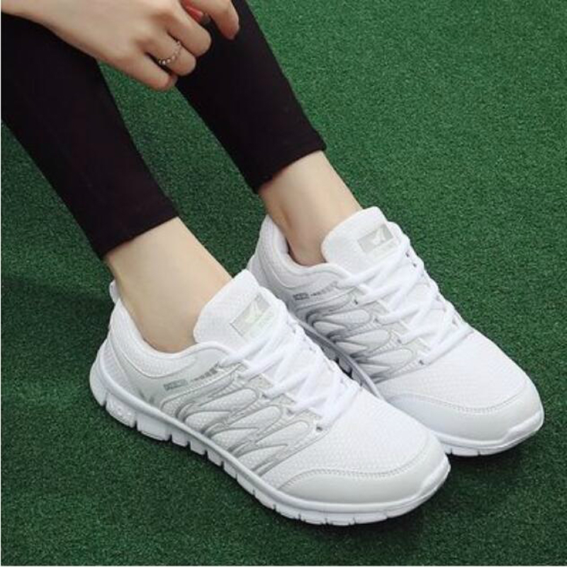 Breathable Woman casual shoes 2018 New Arrivals Spring Autumn mesh sneakers women fashion shoes Fast delivery tenis feminino W32