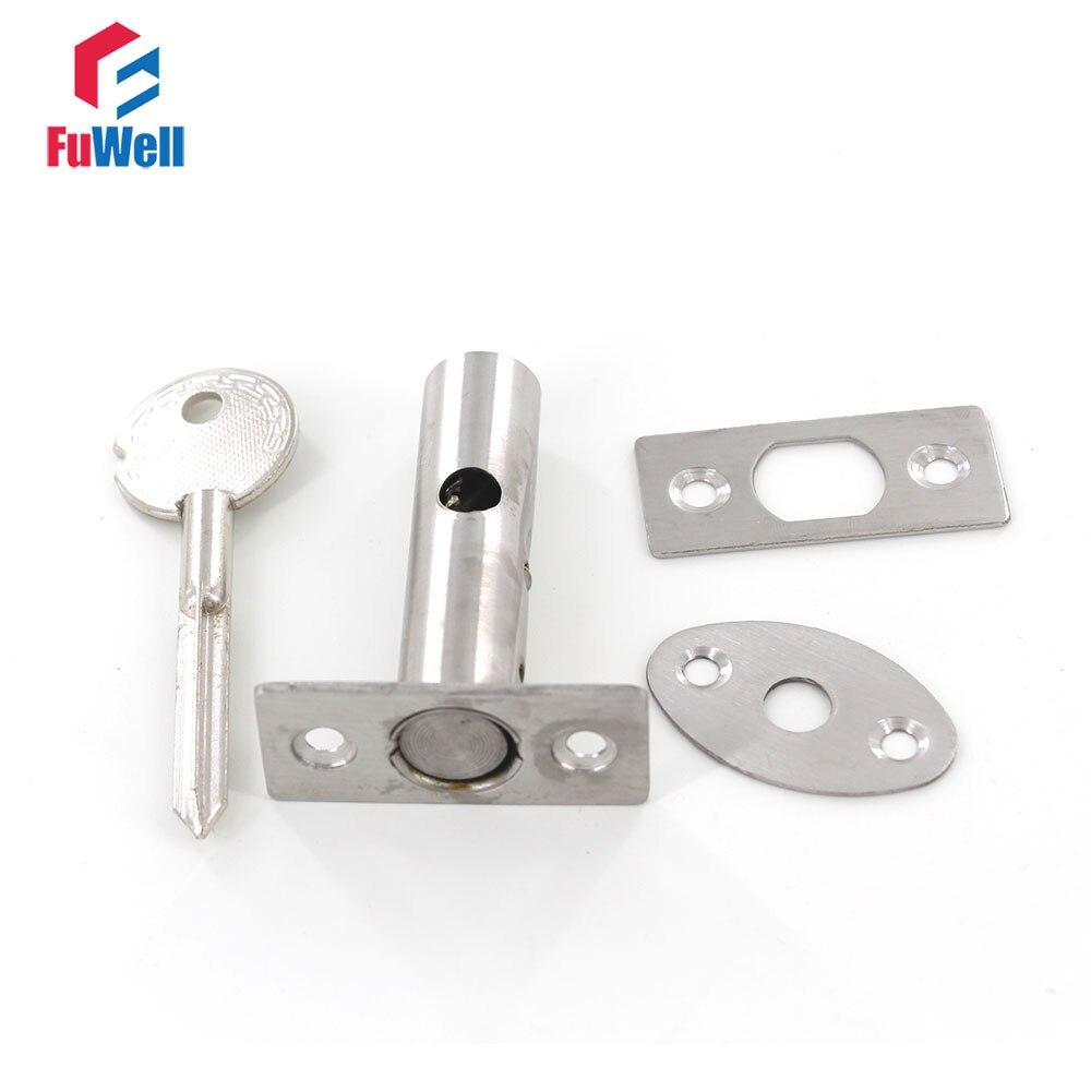Stainless steel Channel Lock Invisible Fire Door Locks Pipe Concealed Hidden Door Lock