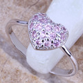 Good-Looking Pink Created Topaz 925 Sterling Silver  Women's Jewelry Ring Size 6 / 7 / 8 / 9  R0657